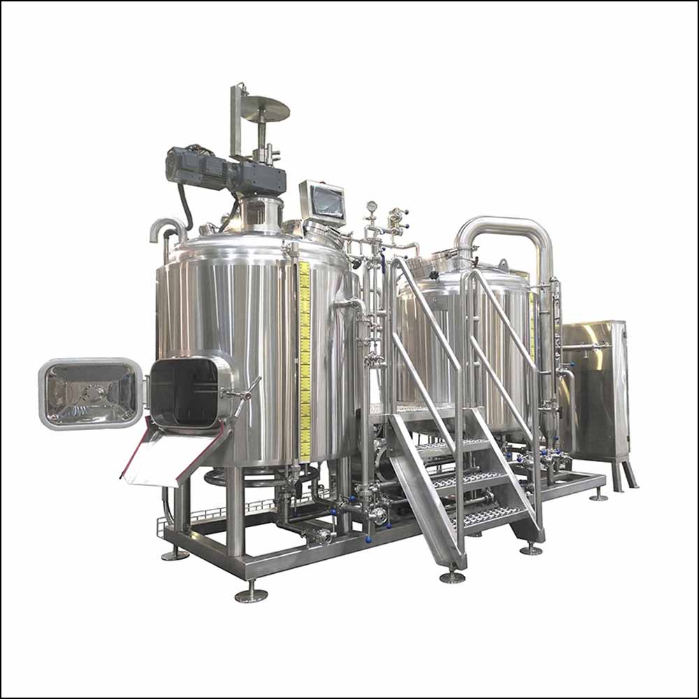 2 vessel micro craft beer brewing system