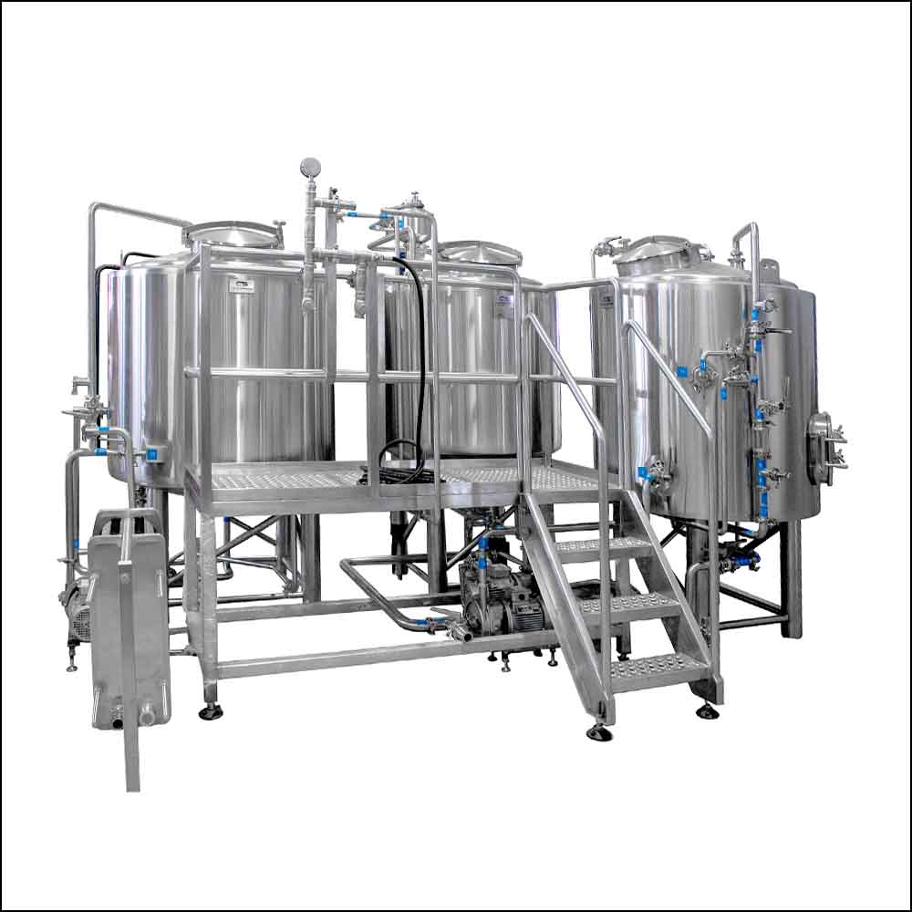 3 vessel medium craft beer brewing system