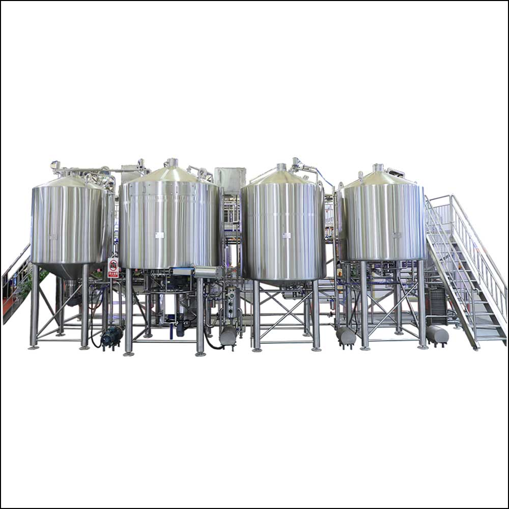 4 vessel large craft beer brewing system